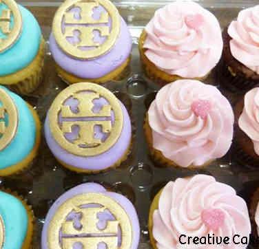 Adult 08 Tory Burch Logo Birthday Cupcakes