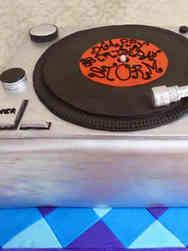 Hobbies 24 Record Player Birthday Cake