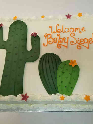 Neutral 58 Cute Cacti Baby Shower Cake