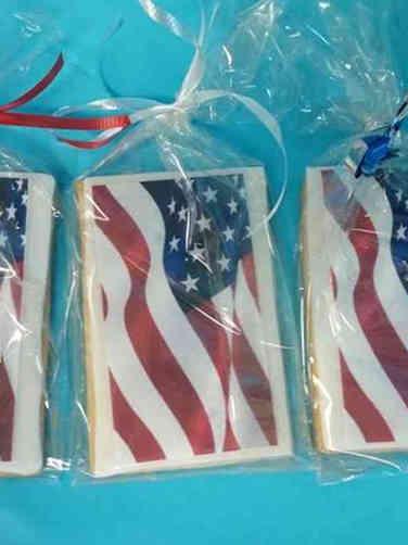 Cookies 19 US Flag Celebration Cookies