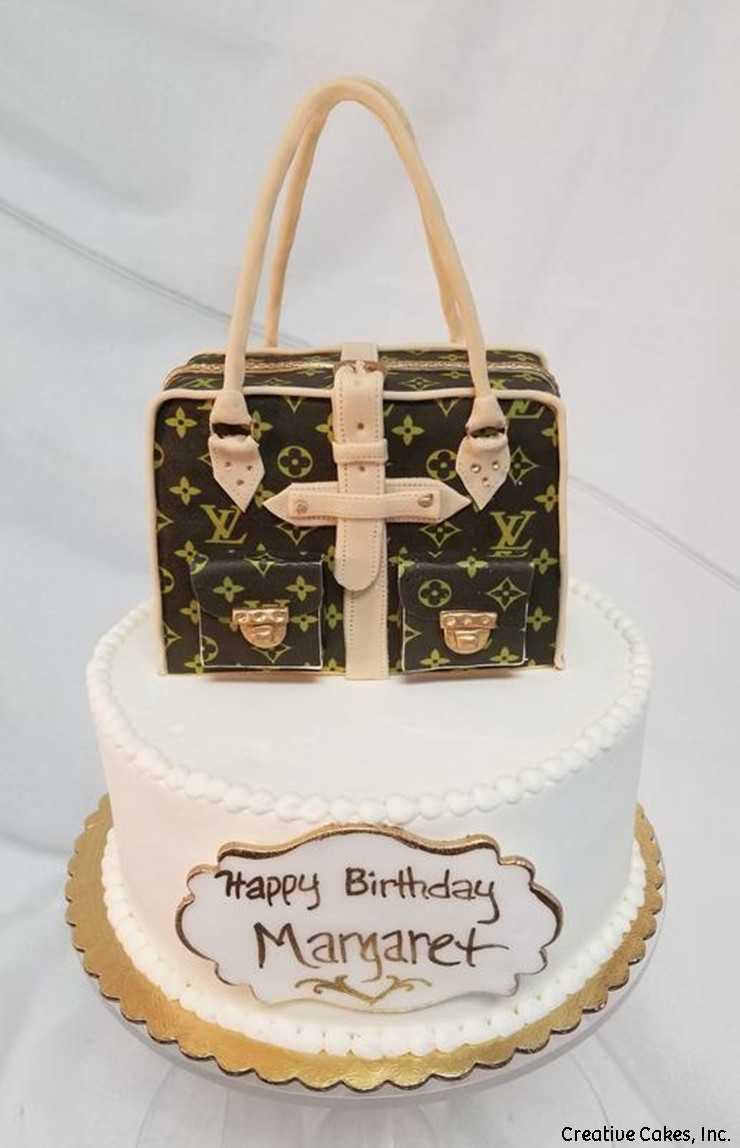 Fashion 21 Brown Louis Vuitton Bag Birthday Cake