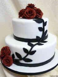 Floral 45 Climbing Roses Wedding Cake