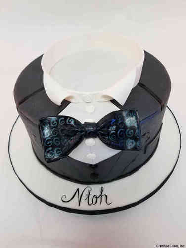 Fashion 86 Dapper Tuxedo Birthday Cake