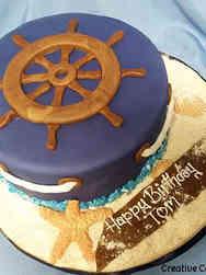 Hobbies 06 Captain's Wheel Birthday Cake