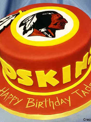 Sports 07 Washington Redskins Logo Birthday Cake