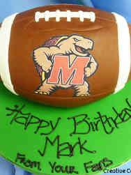 Sports 01 Maryland Football Birthday Cake