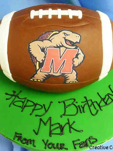 Sports 01 Maryland Football Birthday Cake