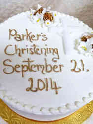 Baptism 09 White and Gold Christening Cake