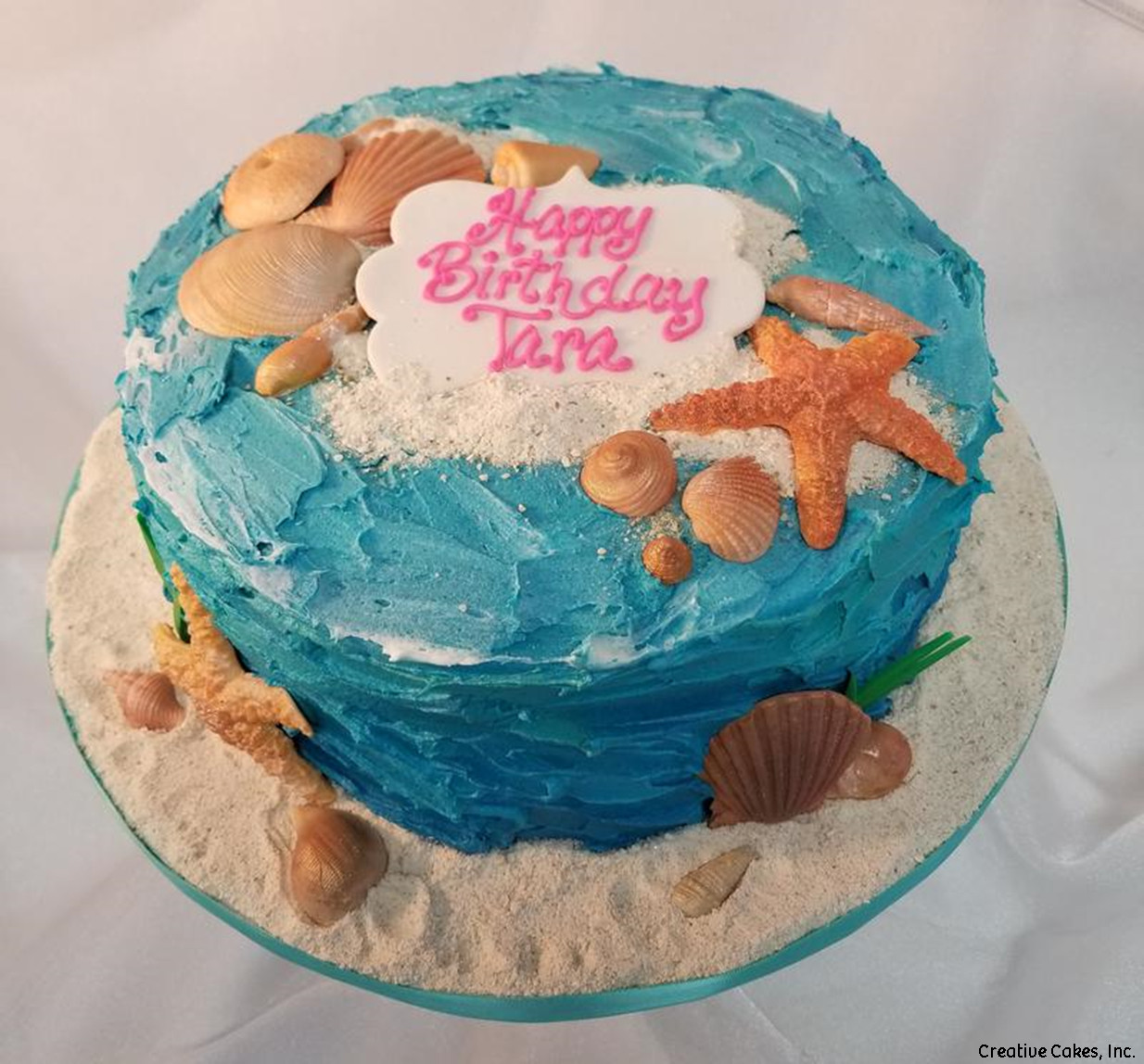 Classic 04 Ocean And Seashells Birthday Cake
