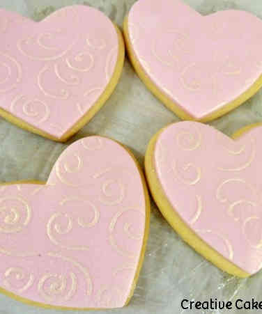 Cookies 21 Pink Heart Celebration Cookies