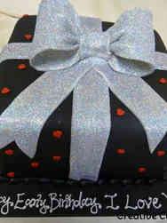 Feminine 33 Hearts and Bows Birthday Cake