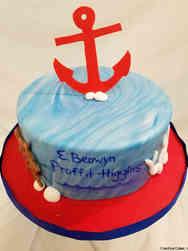 Boys 29 Ship Captain Baby Shower Cake