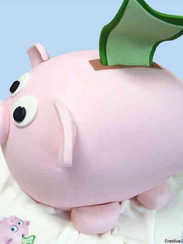 Other 15 3D Piggy Bank Celebration Cake
