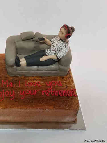 Professional 25 Couch Time Retirement Cake