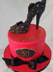 Fashion 77 Floral Lace Heel Birthday Cake