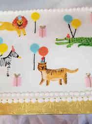 Animals 47 Zoo Party Birthday Cake