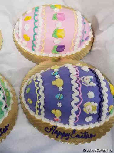 Spring 04 Colorful Easter Eggs Cakes