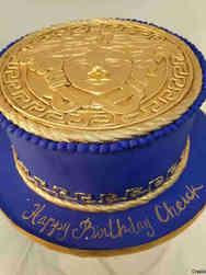 Fashion 78 Versace Logo Birthday Cake