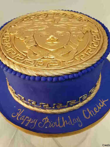 Fashion 78 Versace Logo Birthday Cake