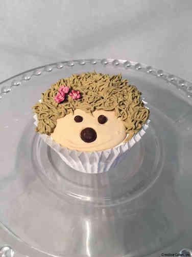 Kids 35 Happy Hedgehog Birthday Cupcake