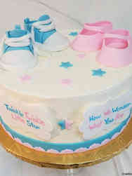 Reveal 05 Baby Shoes Gender Reveal Cake
