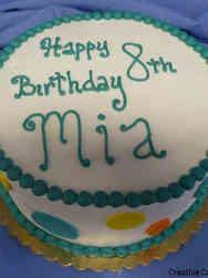 Other 21 Bright Polka Dots Birthday Cake