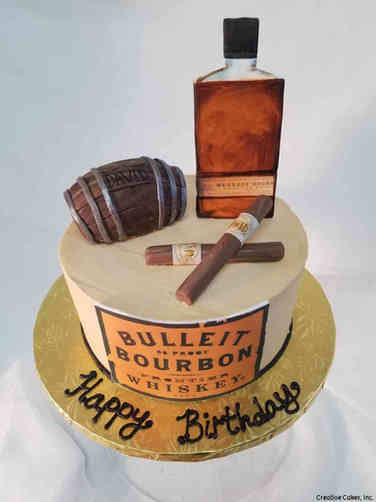 Food 29 Bourbon and Cigars Birthday Cake