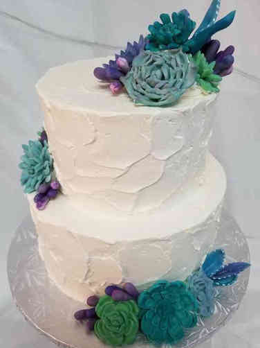 Trendy 05 Sweet Succulents Wedding Cake