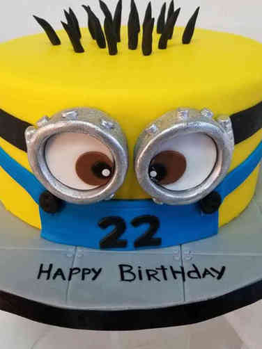Pop 15 Minion Birthday Cake