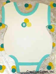 Neutral 31 Classic Onesie Baby Shower Cake