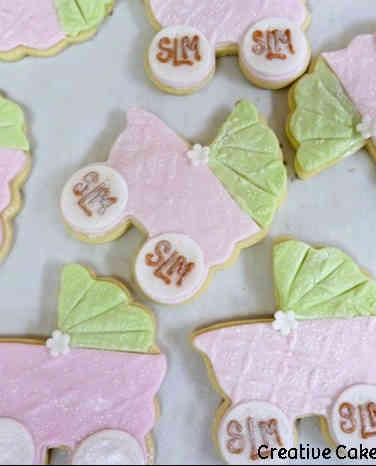 Cookies 16 Baby Carriage Shower Cookies