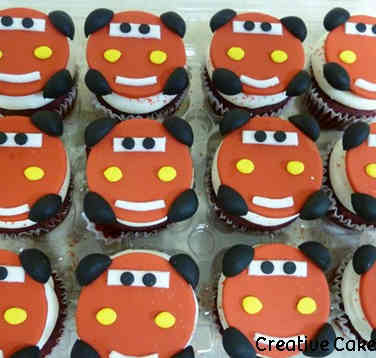 Kids 17 Lightning McQueen Birthday Cupcakes