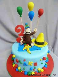 TV 25 Curious George Birthday Cake