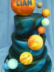 Unique 41 3D Solar System Birthday Cake