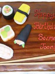 Food 09 Sushi Board Birthday Cake