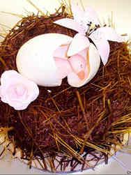 Neutral 28 Baby Bird Baby Shower Cake