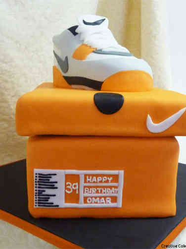 Fashion 45 Nike Shoe and Box Birthday Cake