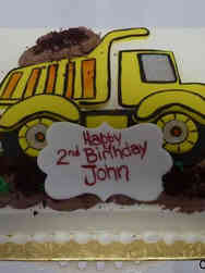 Unique 48 Construction Dump Truck Birthday Cake