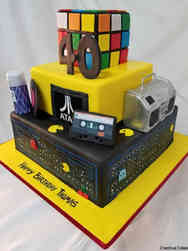 Pop 05 Awesomely 80s Birthday Cake