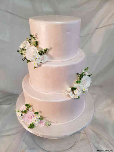 Colorful 21 Blush Pearl Wedding Cake