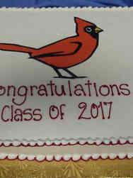 High School 30 Cardinal Mascot High School Graduation Cake