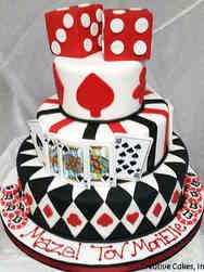 Mitzvah 02 Casino Theme Bar Mitzvah Cake