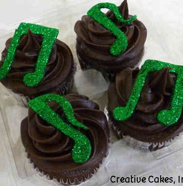 Other 17 Sparkly Music Notes Celebration Cupcakes