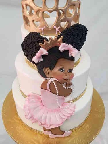 Girls 26 Giggling Princess Baby Shower Cake