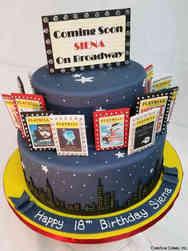 Unique 14 Broadway New York City Skyline Birthday Cake