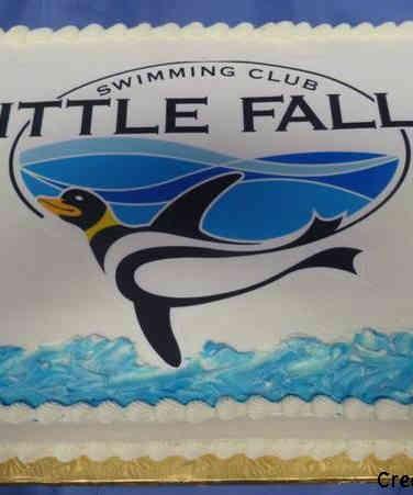 Corporate 19 Swim Club Logo Celebration Cake