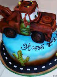 Movies 14 Mater Cars Birthday Cake