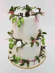 Floral 53 Woodland Garland Wedding Cake