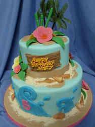 Princesses 30 Moana Ocean Birthday Cake