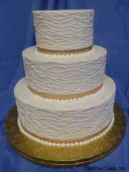 Simple 19 Abstract Lines Wedding Cake